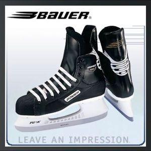Bauer youth black hockey ice skates large 29